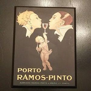 Porto Ramos Pinto Vintage Decoupage Used